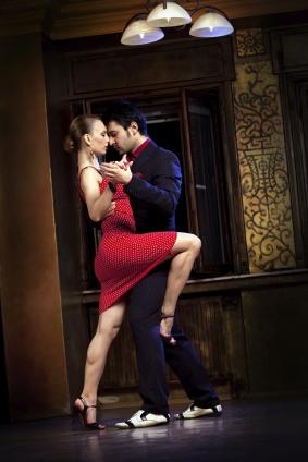 Dancing to tango music