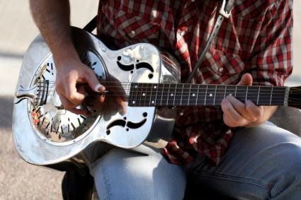 Man playing a dobro