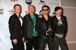 U2 - Larry Mullen Jr, Adam Clayton, Bono and The Edge