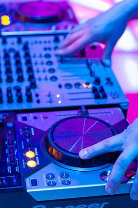 DJ mixer console