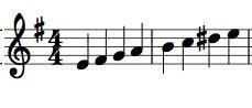 E Harmonic MInor Scale