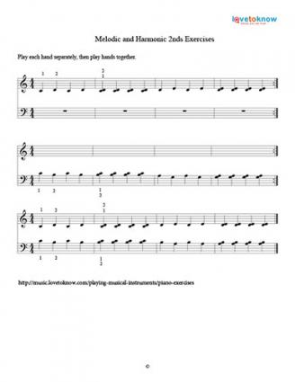 Melodic and Harmonic 2nds Exercise