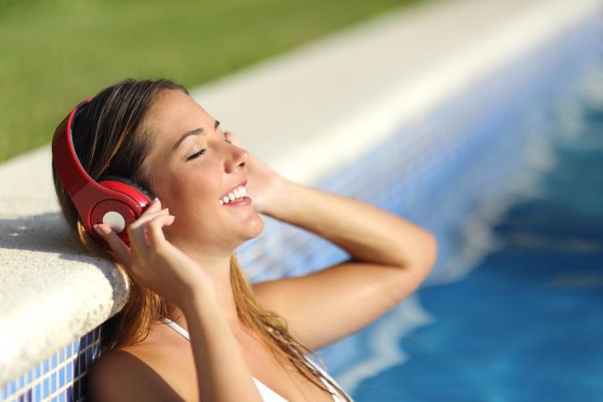 music in the pool
