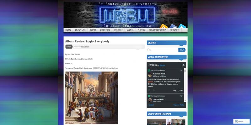 Screenshot of WSBU