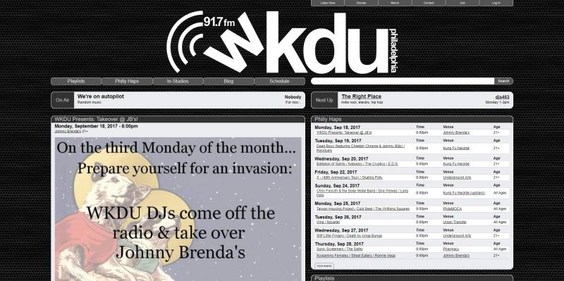 Screenshot of WKDU