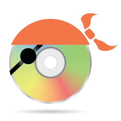 Colored pirate disc