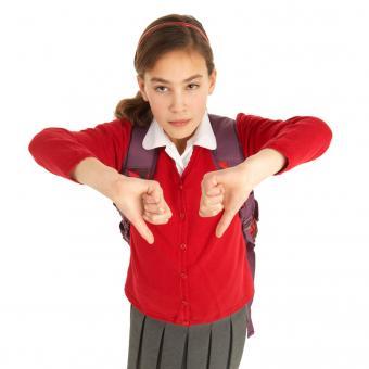 Estudiante en uniforme