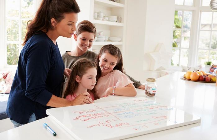 Lista de deberes en el hogar