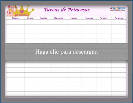 Tabla de princesa