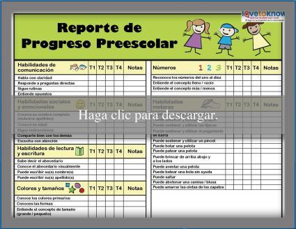Reporte de Progresso Preescolar