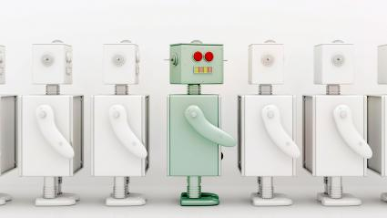 robots en una fila