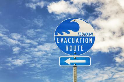 Señal de Evacuación por Tsunami