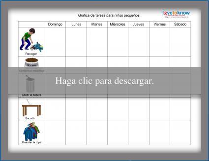 Gráfica de tareas para niños pequeños