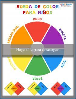 Rueda de color para niños - coloreada