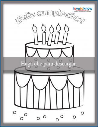 Tarjeta de pastel de cumpleaños