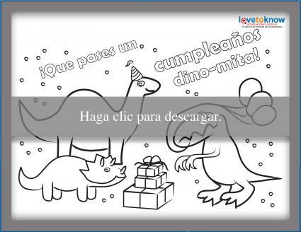 Tarjeta de cumpleaños de Dinosaurio