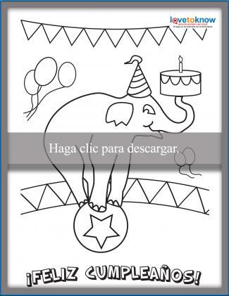 Tarjeta de cumpleaños de elefante