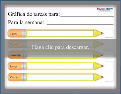 Gráfica de tareas diseño lápices