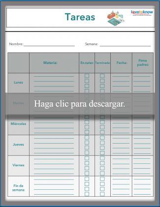 Gráfica de tareas para maestros