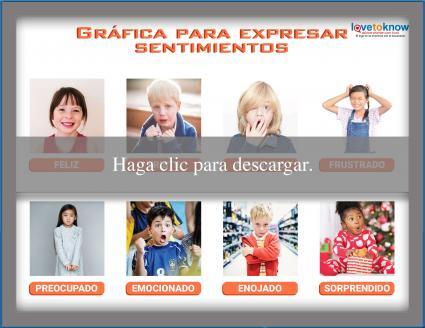 Gráfica para expresar sentimientos para niños mayores