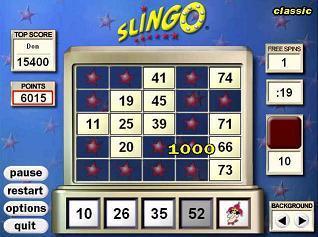 Free Online Slingo Games
