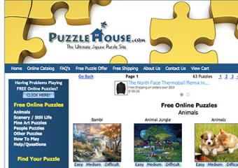 Screenshot of PuzzleHouse.com