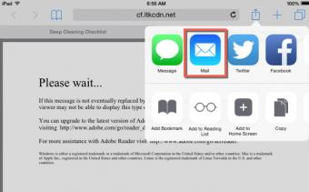 iOS share by email