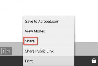 android with adobe reader for dynamic pdfs