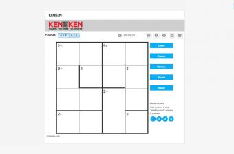 Screenshot of KenKen