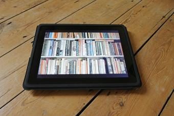 Digital book in a bin