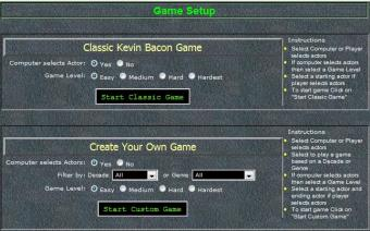 Play Six Degrees of Kevin Bacon Online