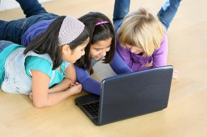 Girls playing online games