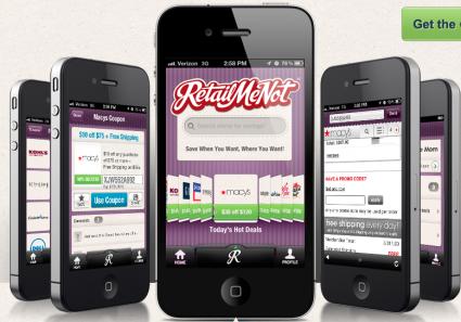 Retailmenot screen shot
