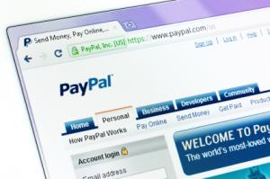 PayPal in browser window