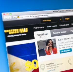 Western Union in browser window