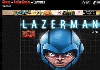 Lazerman online game at Addictinggames.com