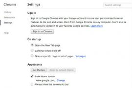 Setting the home page in Chrome