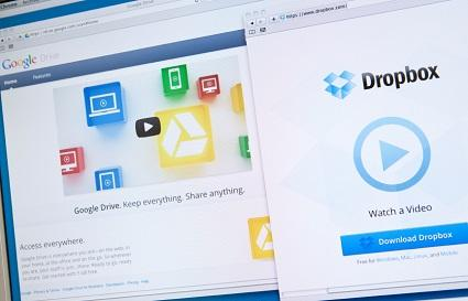 Cloud storage with Dropbox and Google Drive