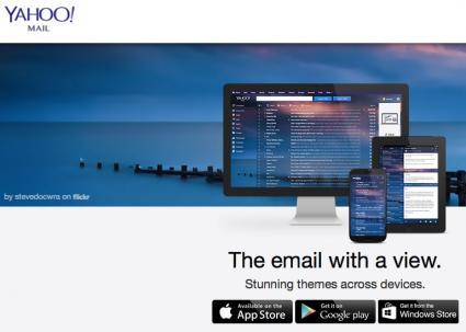 Screenshot of Yahoo sign up page
