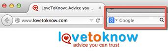 Google search in Firefox browser