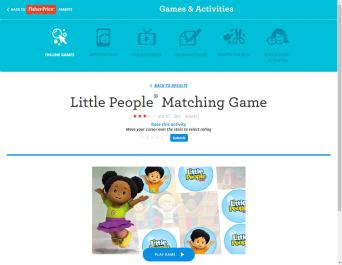 Little Peoples Matching Game