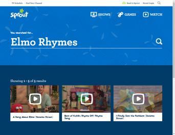 Elmo Rhymes Game