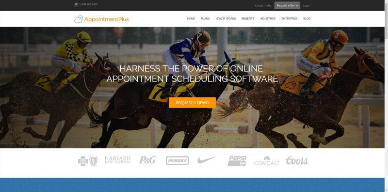 Screenshot of AppointmsntsPlus scheduling website