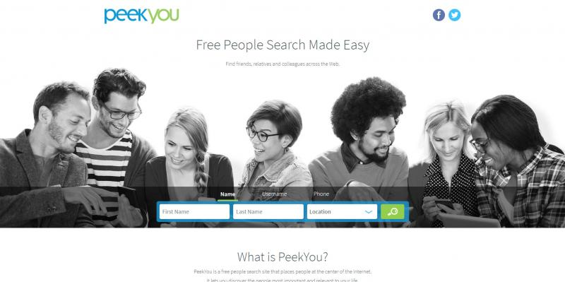 Screenshot of PeekYou