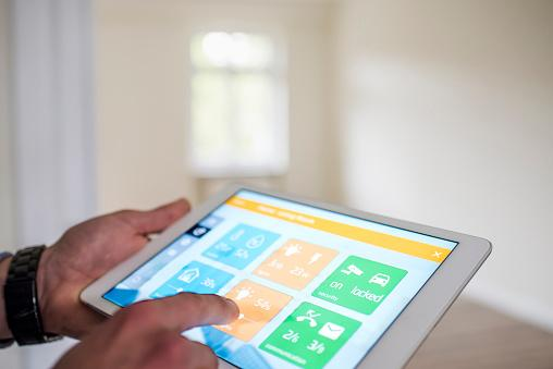 Tablet with smart home apps