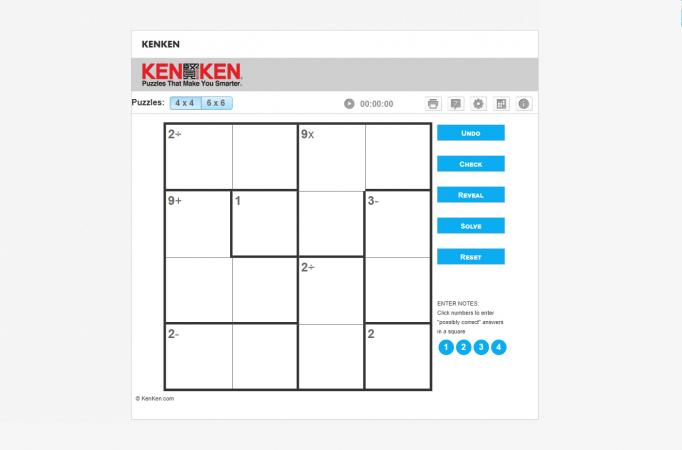 Screenshot of KenKen