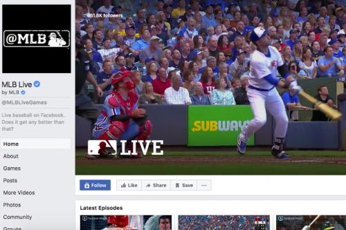 Screenshot of MLB Live Facebook Page