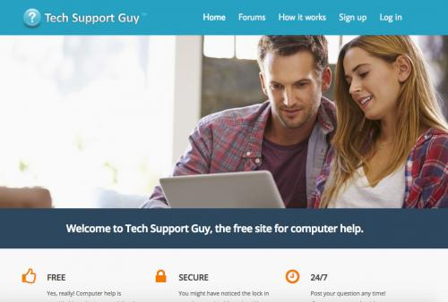 Screenshot Tech Support Guy website page