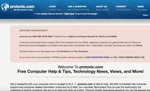 Screenshot of Protonic.com website