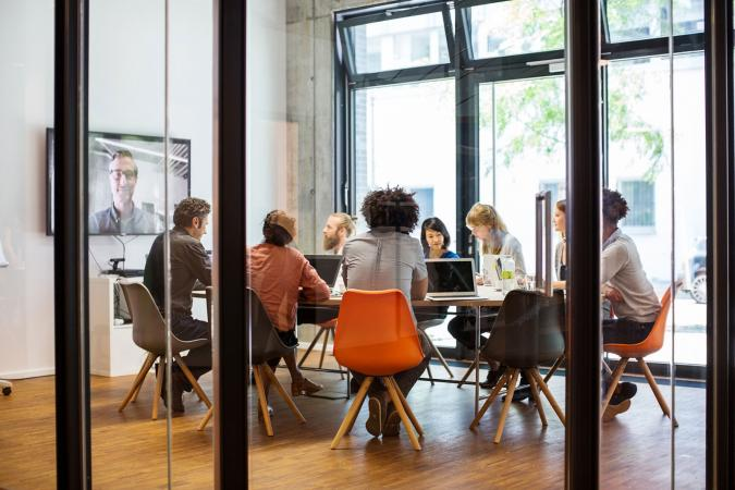 business people collaborating in boardroom